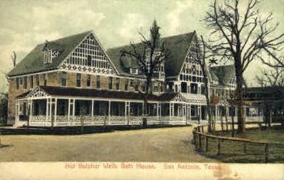 Hot Sulphur Wells - San Antonio, Texas TX Postcard