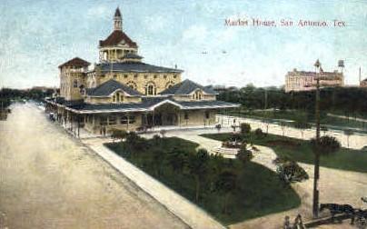 Market House - San Antonio, Texas TX Postcard