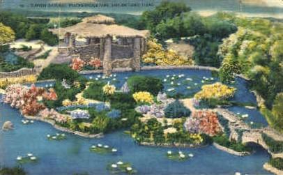 Sunken Garden - San Antonio, Texas TX Postcard