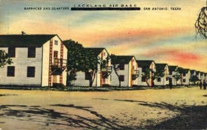 Lackland Air Force Base - San Antonio, Texas TX Postcard