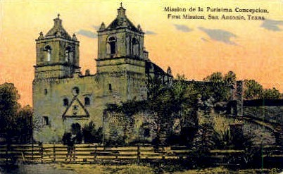 Mission de la Purisima Conception - San Antonio, Texas TX Postcard