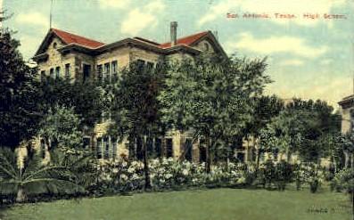 High School - San Antonio, Texas TX Postcard