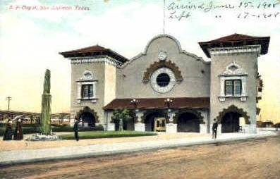 S. P. Depot - San Antonio, Texas TX Postcard