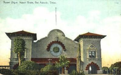Sunset Depot - San Antonio, Texas TX Postcard