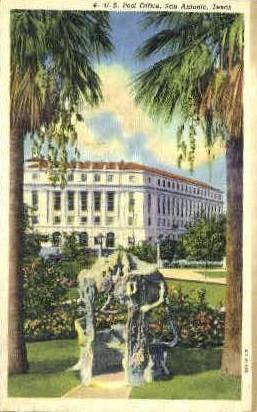 Post Office - San Antonio, Texas TX Postcard