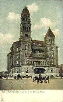 Bexar County Courthouse - San Antonio, Texas TX Postcard