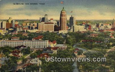 San Antonio, TX     ;     San Antonio, Texas Postcard