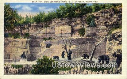 Bear Pit, Brackenridge Park - San Antonio, Texas TX Postcard