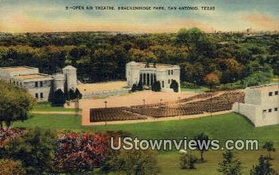 Open Air Theatre, Brackenridge Park - San Antonio, Texas TX Postcard