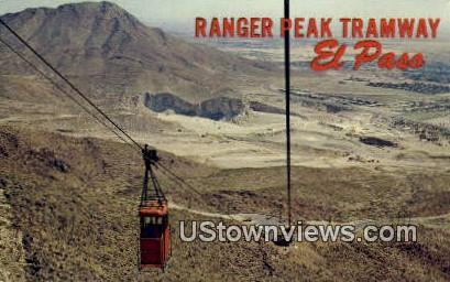 Ranger Peak Tramway - El Paso, Texas TX Postcard