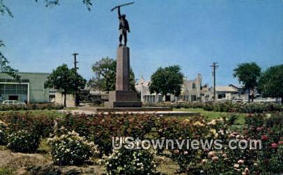 Ben Milam Statue - San Antonio, Texas TX Postcard