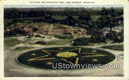 The Star, Brackenridge Park - San Antonio, Texas TX Postcard