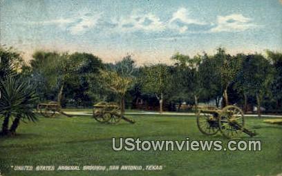 US Arsenal Grounds - San Antonio, Texas TX Postcard