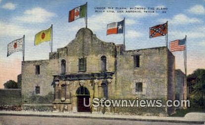 The Alamo, Under Six Flags 1718 - San Antonio, Texas TX Postcard