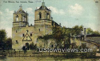 First Mission - San Antonio, Texas TX Postcard