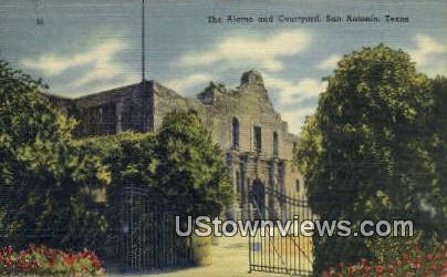 The Alamo, Courtyards - San Antonio, Texas TX Postcard