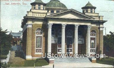 Central Christian Church - San Antonio, Texas TX Postcard