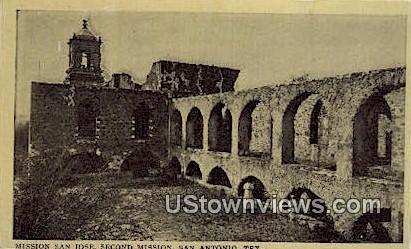Mission San Jose - San Antonio, Texas TX Postcard