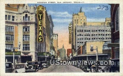 Houston Street - San Antonio, Texas TX Postcard