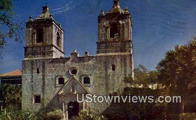 Mission Conception - San Antonio, Texas TX Postcard