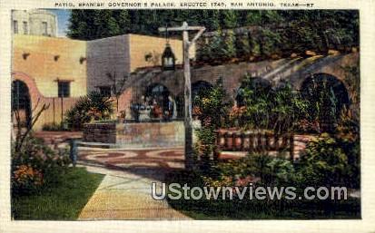 Patio, Spanish Governor's Palace - San Antonio, Texas TX Postcard