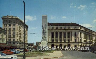 Alamo Cenotaph & US Post Office - San Antonio, Texas TX Postcard