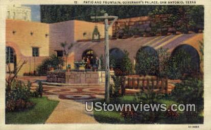 Governor's Palace Patio & Fountain - San Antonio, Texas TX Postcard
