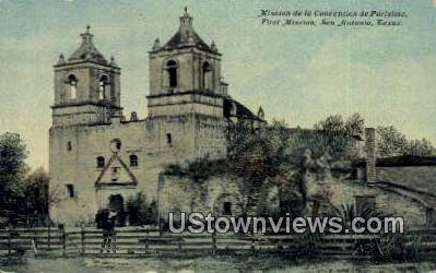 Mission De La Purisima Concepcion - San Antonio, Texas TX Postcard