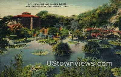 Sunken Garden, Brackenridge Park - San Antonio, Texas TX Postcard