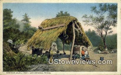Mexican Jacal Hut - San Antonio, Texas TX Postcard