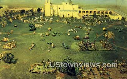 Model of San Jose Mission - San Antonio, Texas TX Postcard