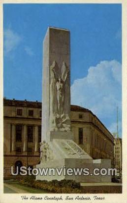 The Alamo Cenotaph - San Antonio, Texas TX Postcard