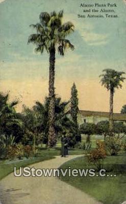 Alamo Plaza Park - San Antonio, Texas TX Postcard