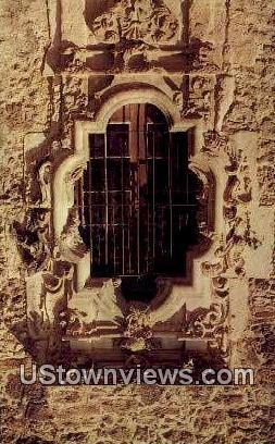 Rose Window, Mission San Jose - San Antonio, Texas TX Postcard