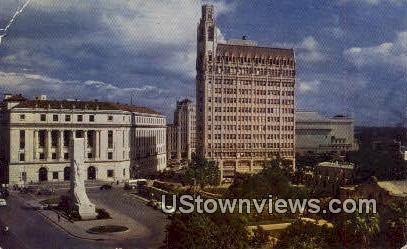 Alamo Plaza, Houston Street - San Antonio, Texas TX Postcard
