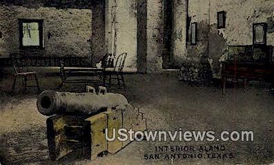 Interior Alamo - San Antonio, Texas TX Postcard