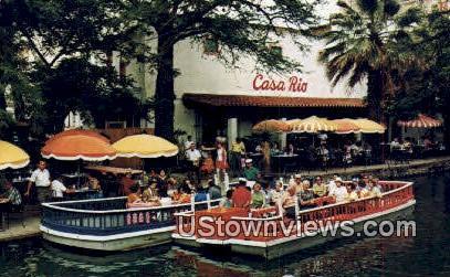 Famous Casa Rio Mexican Restaurant - San Antonio, Texas TX Postcard