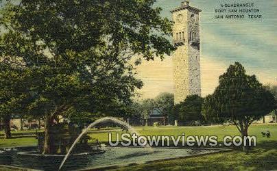 Quadrangle, Fort Sam Houston - San Antonio, Texas TX Postcard