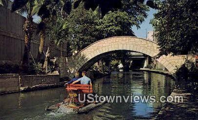 San Antonio River - Texas TX Postcard