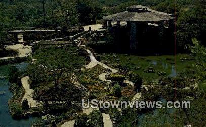 Chinese Sunken Garden, Brackenridge Park - San Antonio, Texas TX Postcard