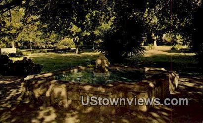 Memorial Fountain, Alamo Garden - San Antonio, Texas TX Postcard