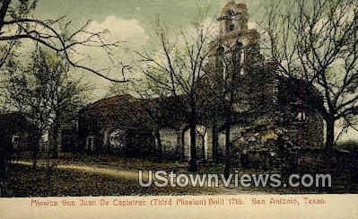 Mission San Juan De Capistrano - San Antonio, Texas TX Postcard