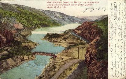 Bear River Canyon - Utah UT Postcard