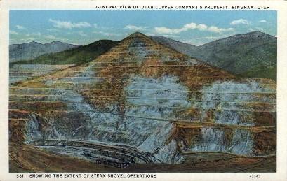 Utah Copper Company - Bingham Postcard