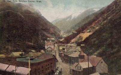 Carr Fork - Bingham Canyon, Utah UT Postcard