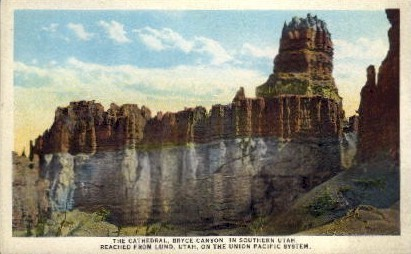 The Cathedral - Bryce Canyon, Utah UT Postcard