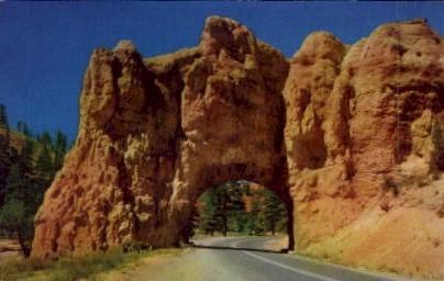 Road Tunnel - Bryce Canyon, Utah UT Postcard