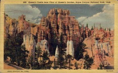 Queen's Castle - Bryce Canyon, Utah UT Postcard