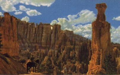The Famed Wall of Windows - Bryce Canyon, Utah UT Postcard