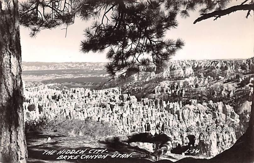 Hidden City - Bryce Canyon, Utah UT Postcard